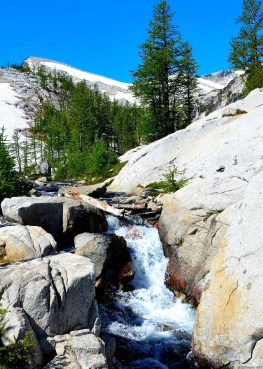 The stream falls to lower Enchantments